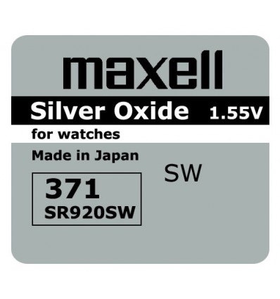 Bateria srebrowa Maxell 371 / SR 920SW
