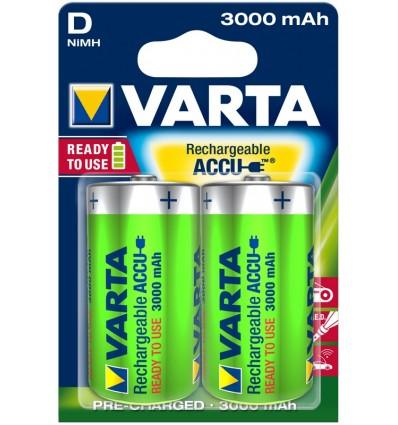 Akumulatorki Varta R20 / d - 3000 mAh - 2 szt.