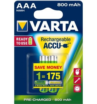 Akumulatorki Varta AAA / HR3 - 800 mAh - 2 szt.