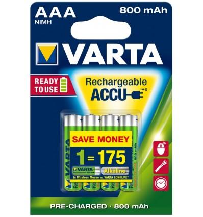 Varta HR03 800 mAh akumulatorki AAA