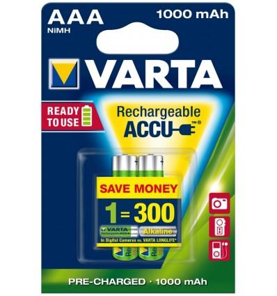 Akumulatorki Varta AAA / HR3 - 1000 mAh - 2 szt.