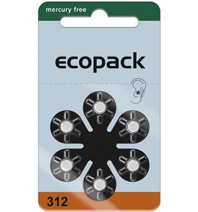 Ecopac Varta 312 / PR41 baterie do aparatów słuchowych