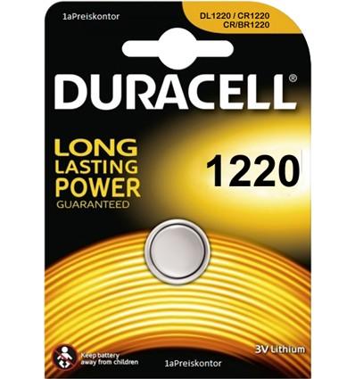 Duracell CR1220 bateria litowa 3V - lithium battery - goenergia
